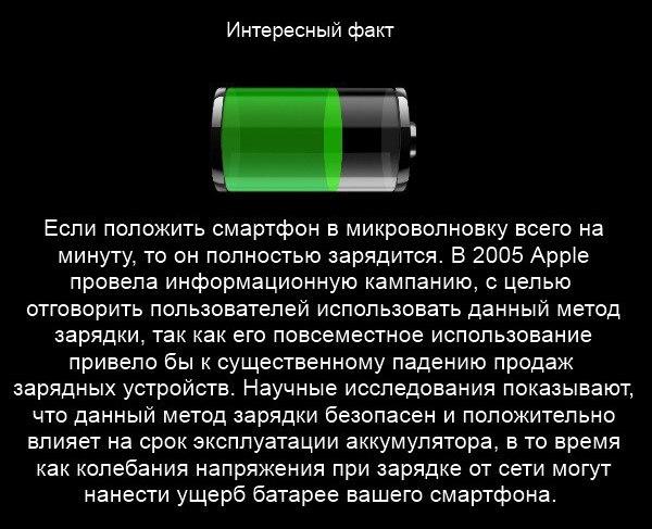 Американец додумался зарядить Samsung GALAXY S6 в микроволновке