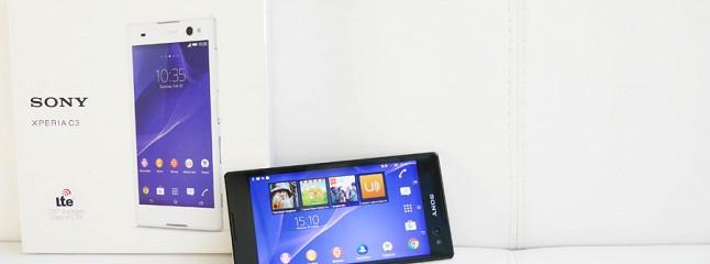 Обзор Sony Xperia C3: планшетофон для съемки сэлфи