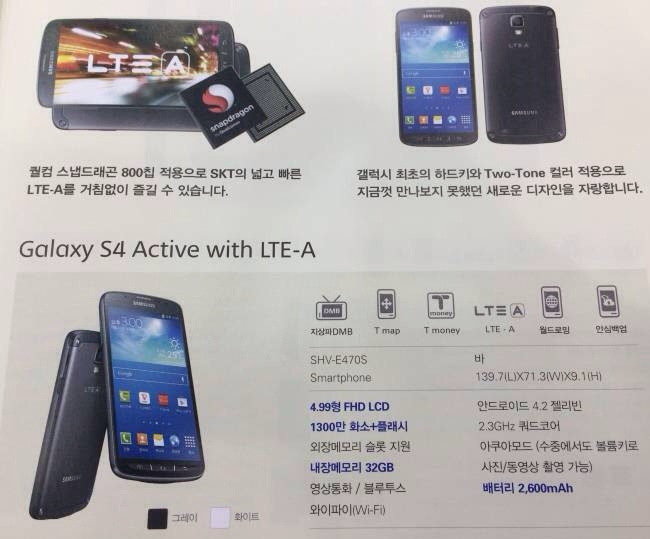 samsung galaxy s4 active snapdragon 800 version