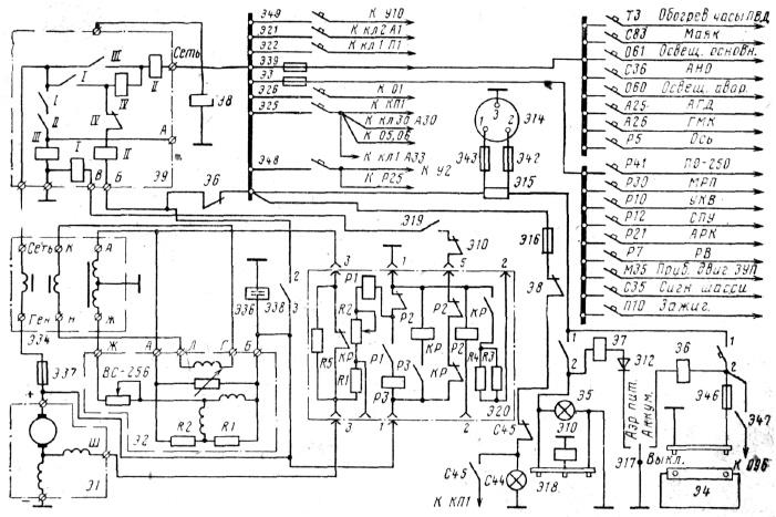 Авиационные электрические схемы