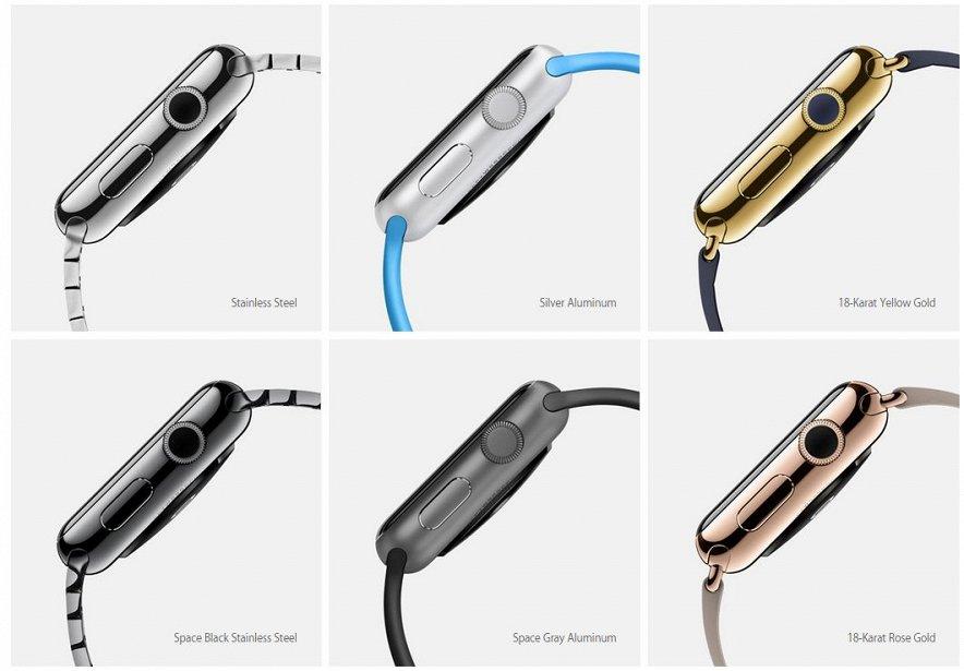 Названа стоимость apple watch в золотом