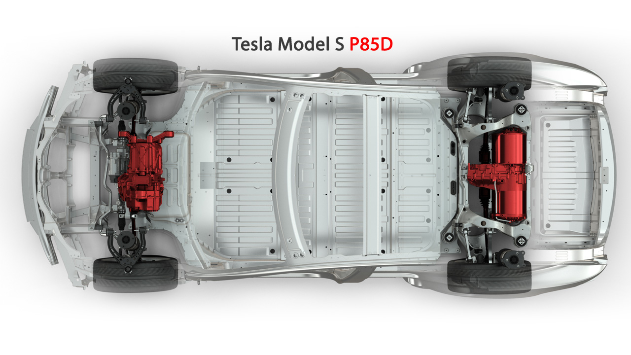 Tesla Model S P85D - Самый быстрый электрокар 700 сил