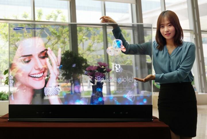 Samsung представила прозрачные и зеркальные дисплеи.